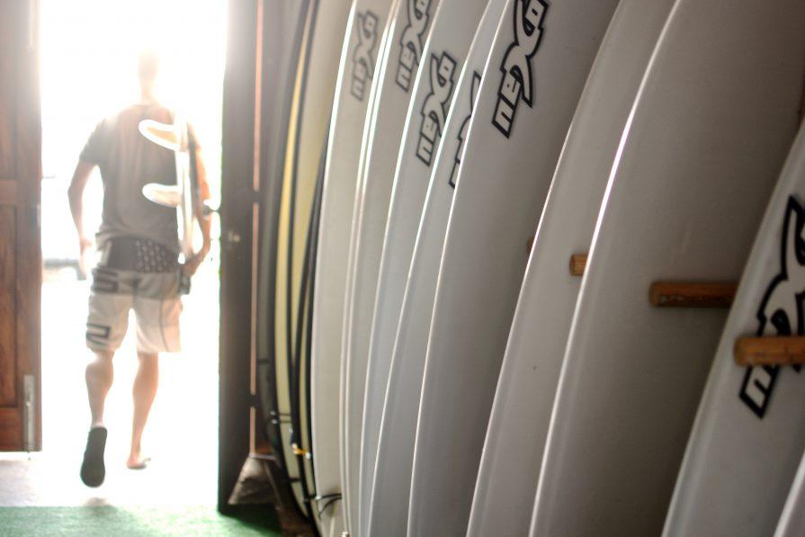 Surfboards im Surfcamp